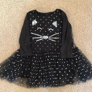 Mud pie girls cat glitter & sequin dress